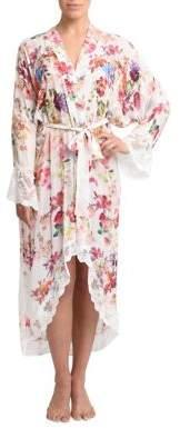 Rya Collection Multi Flower Princess Chiffon Robe