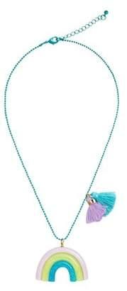 MANGO Rainbow pendant necklace