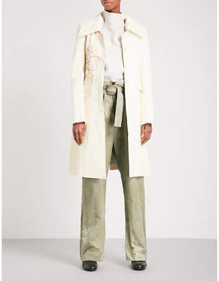 Cherevichkiotvichki Paint-splattered leather coat