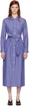 A.P.C. Blue and White Millie Shirt Dress