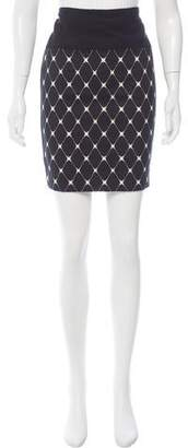 Narciso Rodriguez Printed Knee-Length Skirt w/ Tags
