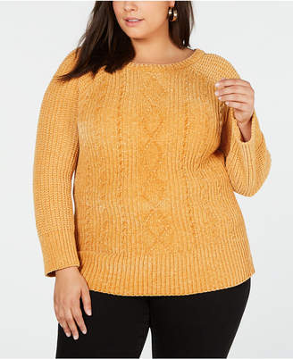 Planet Gold Trendy Plus Size Chenille Sweater c6efac806