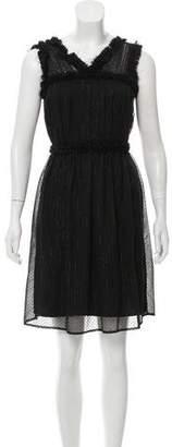 Rodarte Sleeveless Silk Mini Dress