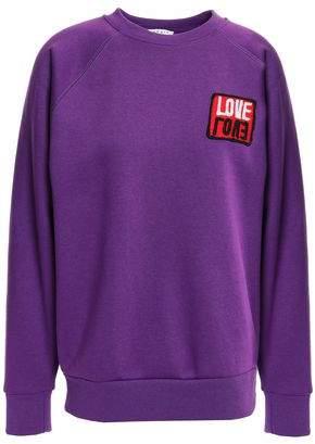 Sandro Embellished Fleece Sweatshirt