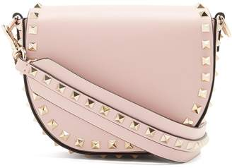 Valentino Rockstud Saddle mini leather shoulder bag