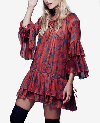Free People Sunsetter Printed Mini Dress $128 thestylecure.com