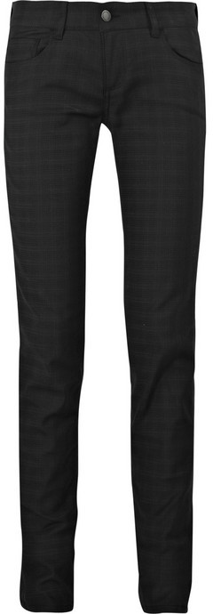 See by Chloé Low-rise checked skinny jeans