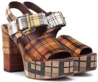 See by Chloe Plaid plateau sandals