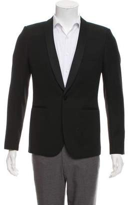 Saint Laurent Grain de Poudre Satin-Lapel Tuxedo Jacket
