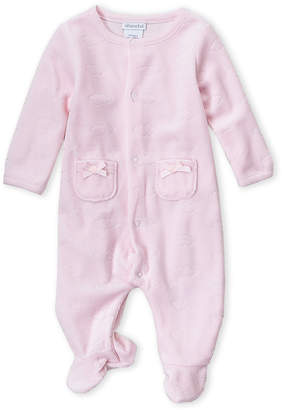 Absorba Newborn Girls) Pink Velour Cloud Footie