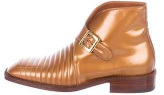 Silvano Lattanzi Metallic Leather Ankle Boots w/ Tags