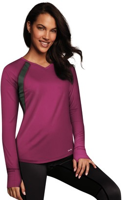 Maidenform Women's Sport Base Layer Thumb Hole Top