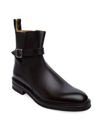 Paul Stuart Men's Leo Ankle Boots with Buckle Strap
