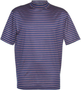 Lanvin High-Collar Striped Cotton Jersey T-Shirt