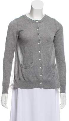 Sacai Pleat-Accented Button-Up Cardigan