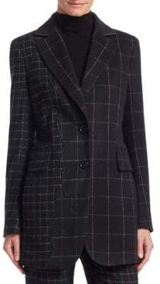 Akris Selia Patchwork Check Jacket