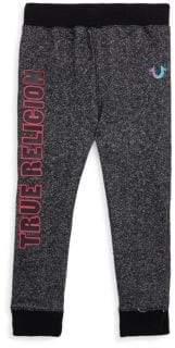 True Religion Little Girl's Textured Cotton Sweatpants