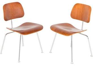 Herman Miller Pair of Eames DCM Molded Plywood Chairs