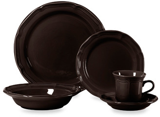 Mikasa French Countryside Chocolate 5-Piece Dinnerware Set