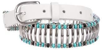 IRO Embellished Leather Belt