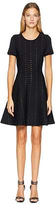 The Kooples Short Knit Dress with Vertical Studs