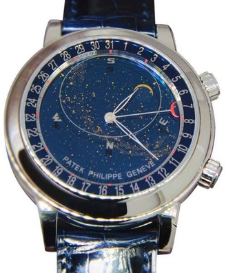 Patek Philippe Sky Moon Celestial 6102P-001 Platinum & Leather 44mm Watch $247,368 thestylecure.com