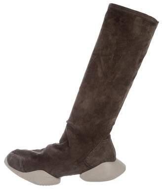 Rick Owens Vicious Suede Sock Runner Sneakers