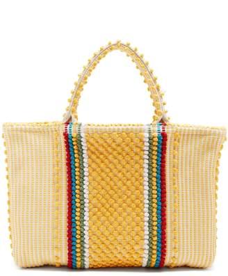 ANTONELLO TEDDE Telti Striscia striped cotton tote