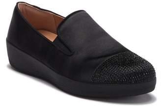 FitFlop Superskate Embellished Toe Platform Slip-On Sneaker (Women)