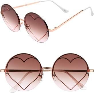 Sam Edelman 58mm Heart Round Sunglasses