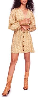 Free People Portobello Linen Blend Mini Dress