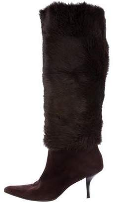 Walter Steiger Fur Knee-High Boots