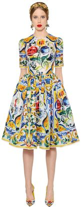 Maiolica Printed Silk Organza Dress $3,845 thestylecure.com