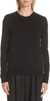 Marc Jacobs Wool & Cashmere Back Button Sweater