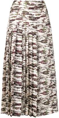 Victoria Beckham camouflage-print skirt