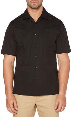 Cubavera Short Sleeve Pattern Button-Front Shirt-Big and Tall