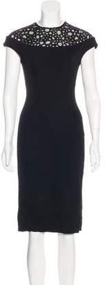 Lela Rose Embellished Virgin Wool-Blend Dress w/ Tags