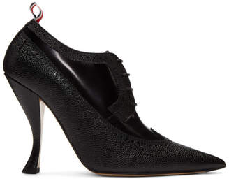 abe170c25807 Thom Browne Black Longwing Brogue Curved Heels