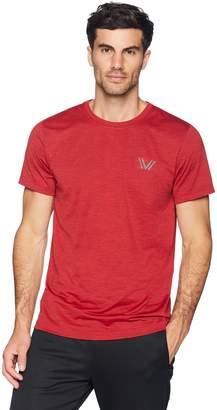 Peak Velocity Men's Aeros Performance Short Sleeve Quick-dry Athletic-Fit T-Shirt