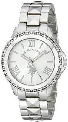 U.S. Polo Assn. Women's USC40081 Rhinestone-Accented Silver-Tone Watch