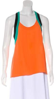 Hermes Sleeveless Silk Blouse