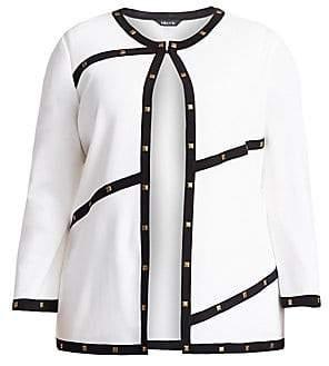 Misook Misook, Plus Size Misook, Plus Size Women's Stud Trim Jacket