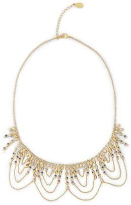 Noir Gold-Tone Crystal Necklace