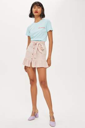 Topshop Rose Gingham Mini Skirt