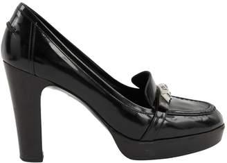 Hermes Black Leather Heels