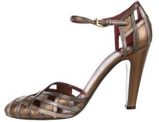 Prada Metallic d'Orsay Pumps