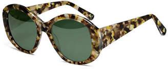 Elizabeth and James Kay Square Acetate Sunglasses