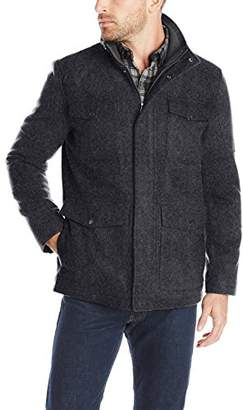 Haggar Men's Brighton Military Four-Pocket Jacket
