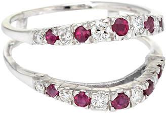 One Kings Lane Vintage 14K Diamond Ruby Wedding Ring Guard Wrap - Precious & Rare Pieces