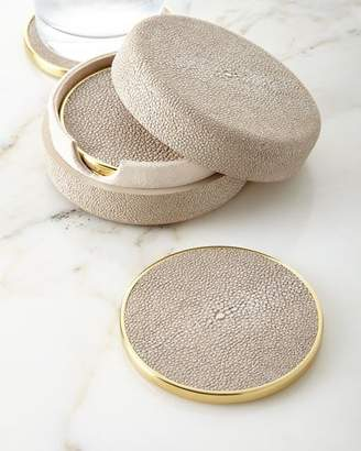 AERIN Faux-Shagreen Coasters